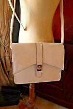 Ivory cream cross body patent leather look handbag