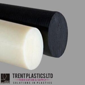 ACETAL & NYLON 66 Rod BLACK NATURAL WHITE BLUE Round Bar Billet Plastic