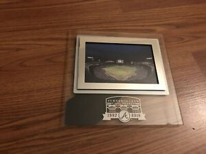 Atlanta Braves Turner Field Final Season 1997-2016 Glass Frame Photo & Kickstand