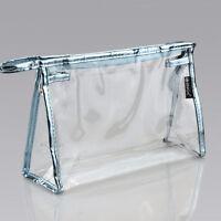 PVC Clear Transparent Case Cosmetic Makeup Bag Toiletry Travel Zipper Wash Pouch