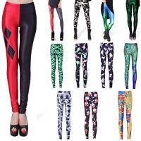 Fashion Womens Graphic Printed Patterns Pant Stretch Tight Leggings Skinny Pants