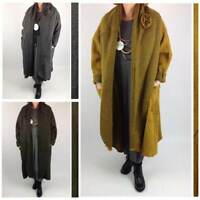 Lagenlook Rose Boiled Wool Coat Oversized Plus Size 16 18 20 22 24 26 28