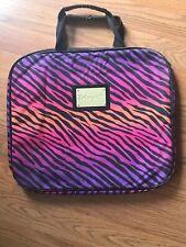 Betsey Johnson Betsyville Pink Purple Zebra Striple Animal Print Laptop Case