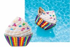 Intex Ride On Cupcake Inflatable Pool Float Swimming Pool Lounger Water Beach