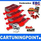 EBC PASTIGLIE FRENI ANTERIORI Redstuff per AUDI A4 Avant 8K5,B8 DP31513C
