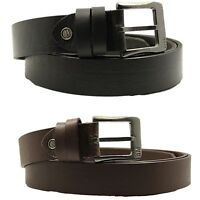 Faux Leather Belt for Men Formal Designer Casual Black Brown Big and Tall 40-66