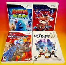 Monsters vs. Aliens MEgamind Cars Epic Mickey -Nintendo Wii / Wii U Disney Games