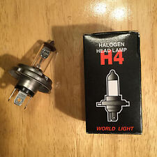 H4 Halogen Hi/Low Beam Headlight Bulb 12V 100/55W Car Truck Snowmobile P45T Base