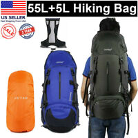 60L Travel Hiking Backpack Waterproof Outdoor Sport Camping Daypack Rucksack Bag