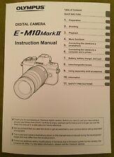 Olympus OM E - M10 Mark II Manual - Printed & Professionally Bound Size A5 NEW