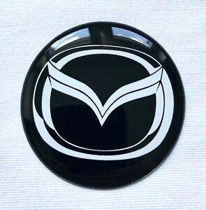 Rad Mitte Aufkleber 4 x 55mm passend für Mazda embleme radkappen nabenkappen