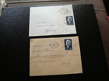 FRANCE - 2 enveloppes 1950 (dos 2eme choix) (cy50) french