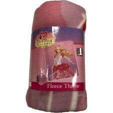 """Barbie 12 Dancing Princesses Fleece Throw Blanket 50"""" x 60"""""""