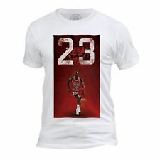 T-shirt Homme Col Rond Michael Jordan 23 Chicago Bulls Basket Superstar GOT