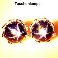 TOP 6 RAY STAR SAPPHIRE EARRINGS : Natürliche Stern Saphir Ohrringe  Silber E120
