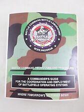 """1993 US Army Publication Binder """"Battle Command Techniques & Procedures"""" BCFR"""