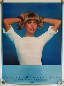 RARE 1976 OLIVIA NEWTON JOHN MCA PROMO POSTER DON'T STOP BELIEVIN' ALBUM VINTAGE