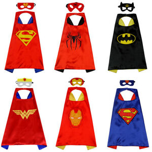 Boys Girls Hero Cloak Halloween Christmas Costumes Party Cape Cosplay Costumes