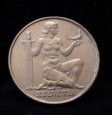 1936 Switzerland silver 5 francs, Armament Fund, UNC details, KM-41 (SZ44)