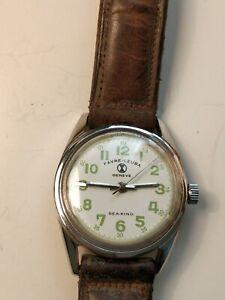 Vintage Favre Leuba Sea King Diver Military Watch