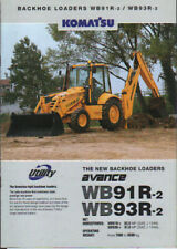 Komatsu WB91R-2 and WB93R-2 Backhoe Loader Brochure Leaflet