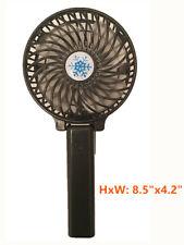 Portable Handheld Mini Fan Rechargeable Handy Travel Desk Cooler-Black