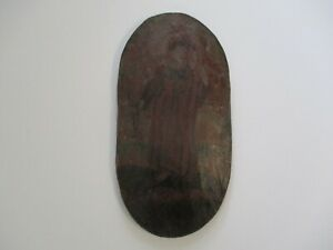 ANTIQUE 18TH TO 19TH CENTURY PAINTING OLD MASTER RELIGIOUS ICON PORTRAIT ON WOOD