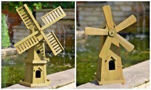 Large Wooden Garden Windmill Decor Wind Ornament Outdoor Decoration Statue Patio
