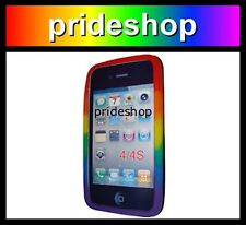 Apple iPhone 4 / 4S Mobile Phone Case Rainbow Silicone Cover Gay Pride #364