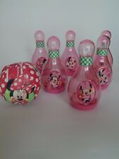 Disney Store Minnie Mouse pink 6 plastic skittles