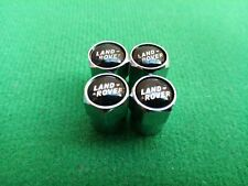 LAND ROVER Chrome Wheel Tyre Valve Dust Caps Sport Discovery Freelander Evoque