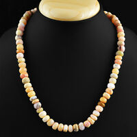 EXCLUSIVE AAA 242.00 CTS EARTH MINED RICH PINK AUSTRALIAN OPAL BEADS NECKLACE