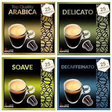 100 Capsules Compatible Nespresso Machines ARABICA,SOAVE,DELICATO,DECAF