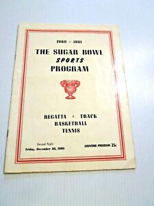 December 1960 Sugar Bowl Classic Mixed Sports Program Basketball Tennis Track +