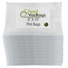 1200 6x10 PINT FoodVacBags for FoodSaver machines Vacuum Sealer Bags 4 Mil CASE