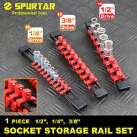 "3 Pc Double-sided Socket Rail Holder Sliding Organizer DIY ABS 1/4"" 3/8"" 1/2"""