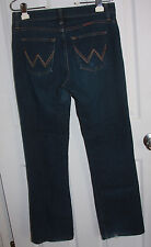 Wrangler Q-Baby Boot Cut Blue Jeans 7/8 x 32 Cotton Blend Stretchy Stitched