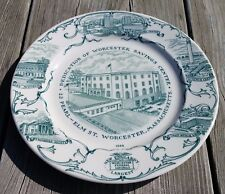 1968 Commemorative Plate of Worcester Federal Savings Bank