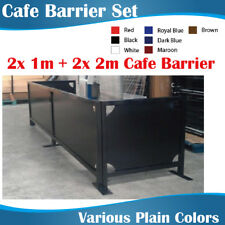 Cafe Barrier Set 2x2m 2x1m Coffee Barriers With Plain Color Banners
