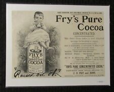 "1889 FRY'S PURE COCOA Print Ad 10x7"" FN 6.0 Paris Exhibition"