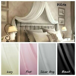 Sheer Voile adult Bed Canopy Crown Coronet Corona COMPLETE for ALL bed sizes