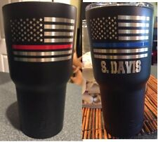 Thin Blue or Red line RTIC stainless tumbler Firefighter's, Police Officer's