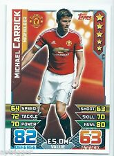 2015 / 2016 EPL Match Attax Base Card (175) Michael CARRICK Manchester United