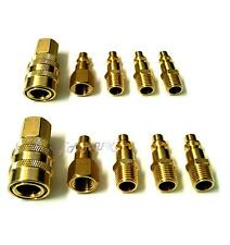 """10pc Air Hose Fast Quick Release Coupler Connector 1/4"""" NPT Fitting Compressor"""