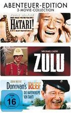 3 MOVIE COLLECTION * u.a. HATARI / ZULU  - JOHN WAYNE / MICHAEL CAINE  # NEU OVP