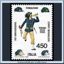 1986 Italia Repubblica Corpo Bersaglieri n. 1768 **