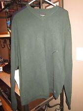 A&F Abercrombie & Fitch Dk Green w Blue Slv Strip Ski Sweater NEW NWT XL