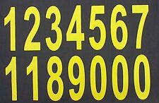 iron on transfer numbers LARGE 90mm yellow numbers heat press print your own
