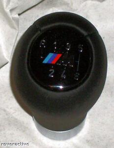 BMW Genuine E46 3 Series E60 5 Series E63 E64 6 Speed Heavy Leather Shift Knob
