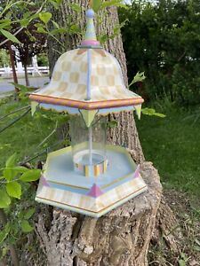 Mackenzie CHILDS PARCHMENT Check Bird Feeder /  BirdHouse - Lots Of Mc Available